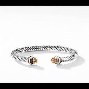 David Yurman Citrine Classic Cable Bracelet